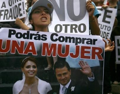 Miles de mexicanos protestan contra Peña Nieto y resultados electorales