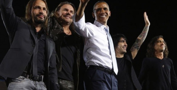 Maná impulsa voto latino a favor de Obama