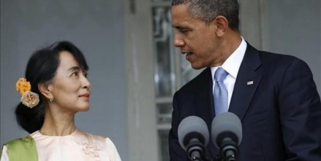 Obama aplaude la transición democrática en Birmania, en su visita oficial