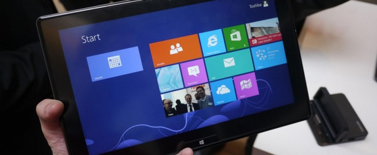 Toshiba lanza tabletas y portátiles desmontables con Windows 8