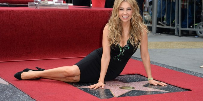 Thalía develó su estrella en Hollywood