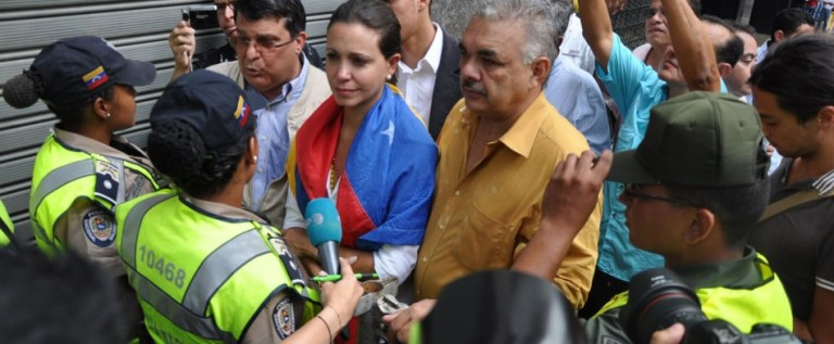 Corina Machado se dirige al Tribunal tras un intento fallido de ingresar a la Asamblea