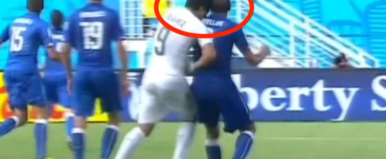 Volvió 'el Caníbal' Suárez… Tercera vez que muerde a un rival