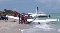 Avioneta cae en playa de Florida; hay 1 muerto