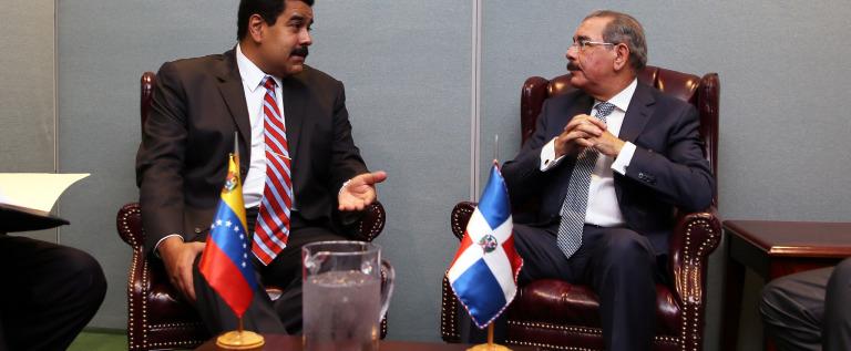 Los Presidentes Danilo Medina Sánchez y Nicolás Maduro se reúnen  en la ONU