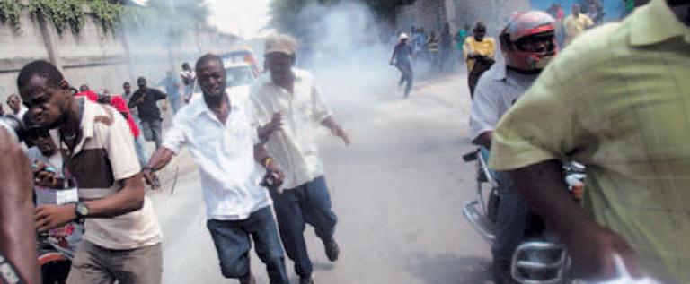 Manifestantes en Haití exigen elecciones