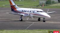Avión se salió de pista e incendia en Dominicana
