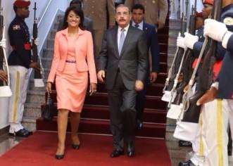 El presidente Dominicano Danilo Medina Sánchez retornó su país