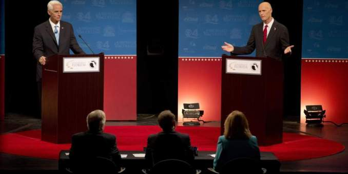 Acalorado debate por la gobernación de Florida