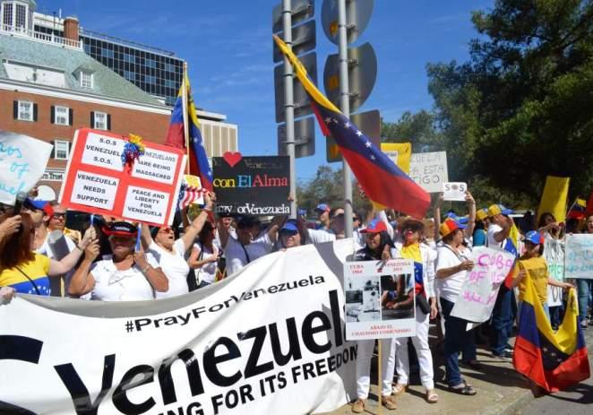 Venezolanos en Estados Unidos piden libertad en su país