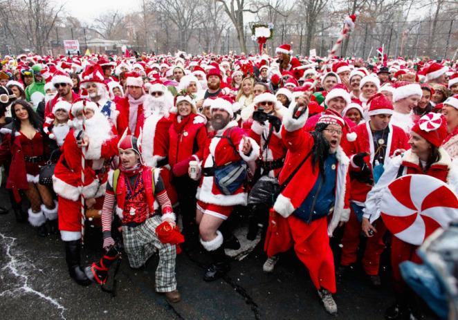Arranca la fiesta del SantaCon en Nueva York