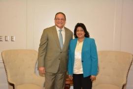 La Presidenta del Senado Congresista Cristina Lizardo y director CAASD conversan sobre crisis del agua