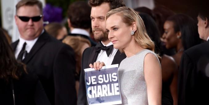 Alfombra roja de los Globos de Oro, marcada por homenajes a Charlie Hebdo
