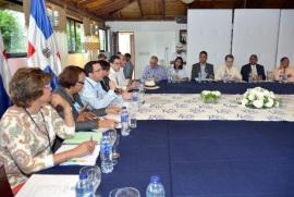 Ministro de Relaciones Exteriores Andrés Navarro encabeza encuentro fronterizo en Montecristi, Republica Dominicana