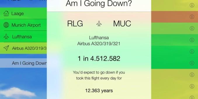 Am I Going Down? es la app que te ayuda a saber si tu vuelo se caerá