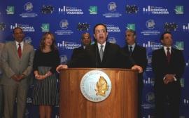 Gobernador del Banco Central de la Republica Dominicana Don Hector Valdez Albizu se reúne con la nueva directiva de ABANCORD