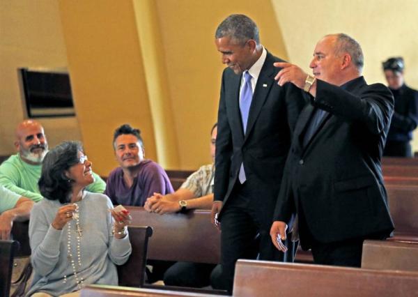 Obama visita en Miami la Ermita del Cobre, símbolo religioso de exilio cubano