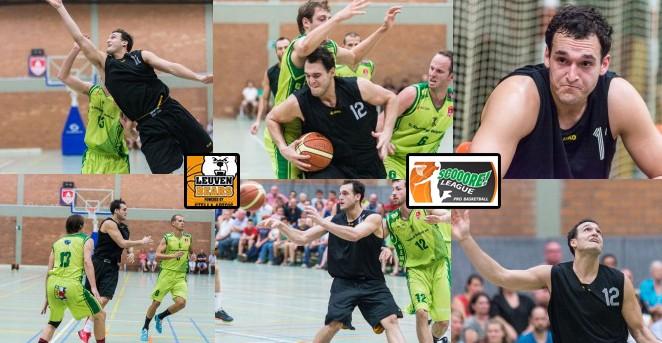 JJ Avila 14 puntos en pretemporada de los Leuven Bears