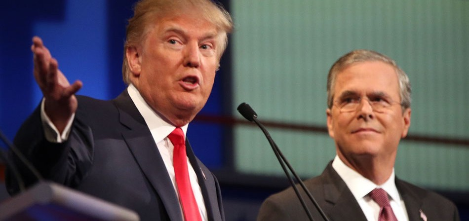 Se intensifica la disputa entre Jeb Bush y DonaldTrump