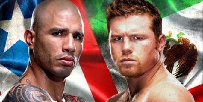 El boricua Miguel Cotto y el mexicano Canelo se enfrentan esta noche